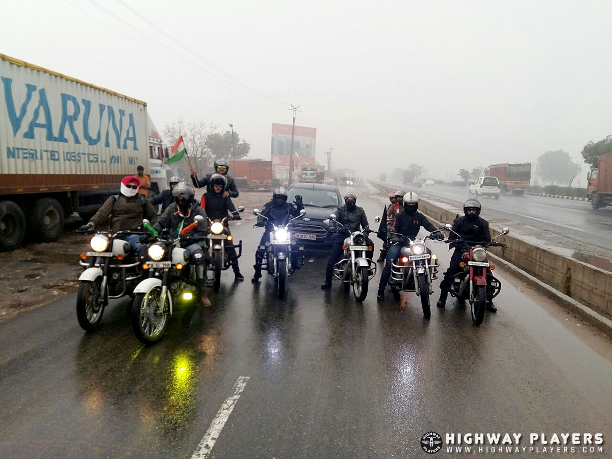 Highway Players Republic Day ride to Chillax N Relax