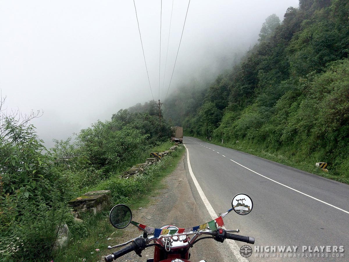 tattapani, himachal, road, green, fog