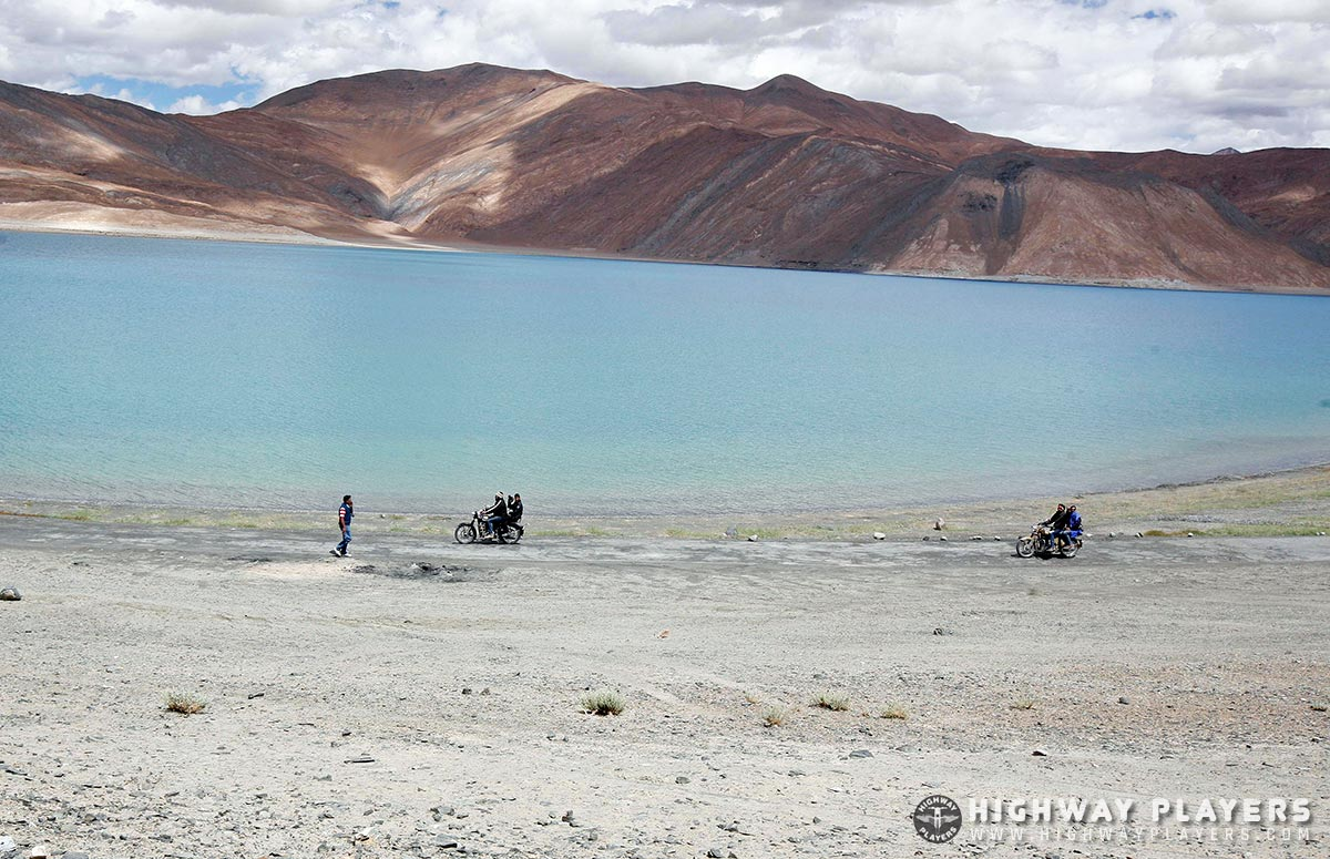 lake, ladakh, ride, bullet