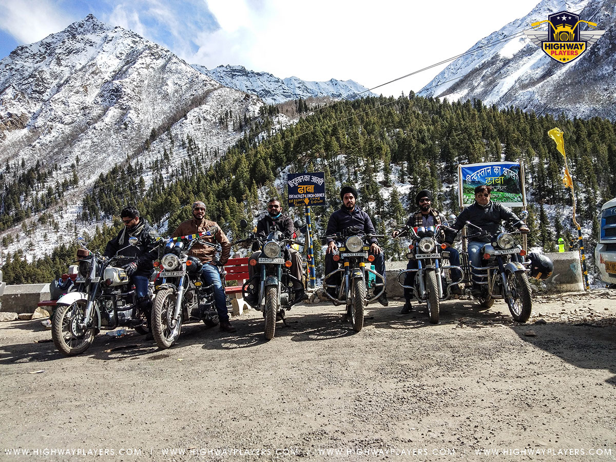 Highway Players at Hindustan Ka Aakhiri Dhaba in Chitkul during the Ride to Chitkul