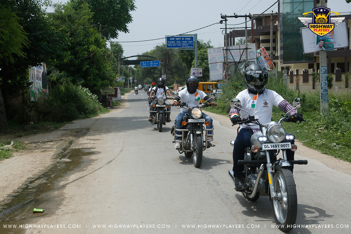 Highway Players on the way to The Blue Camp during Independence Day Ride