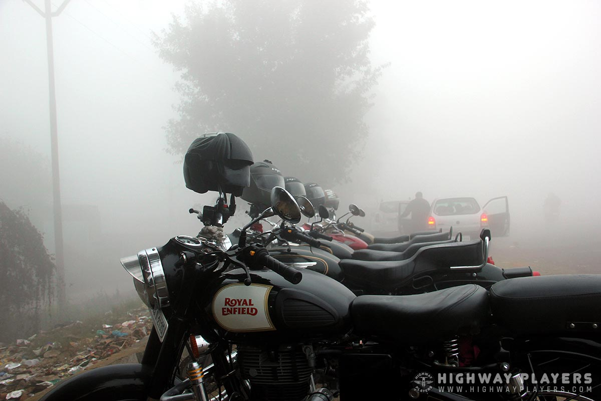 fog, bullet, royal enfield, ride, hps