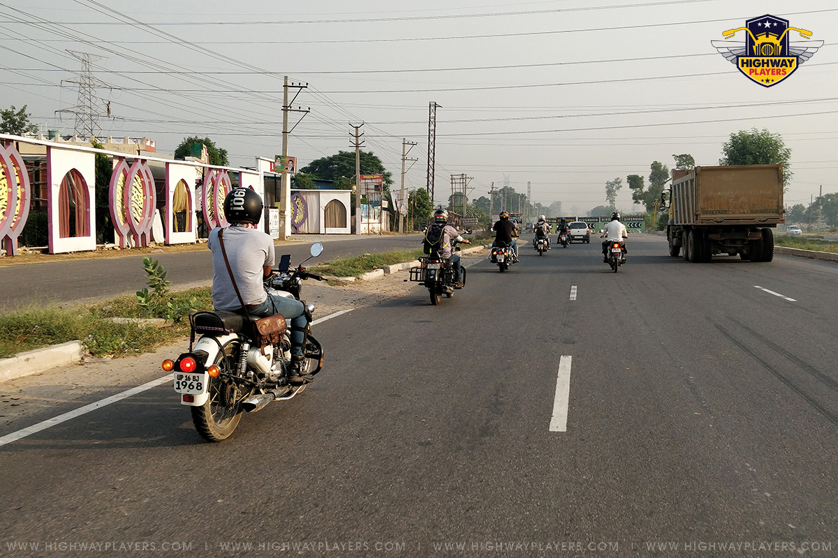 Highway Players during Ride to Zhilmil Dhaba, Palwal