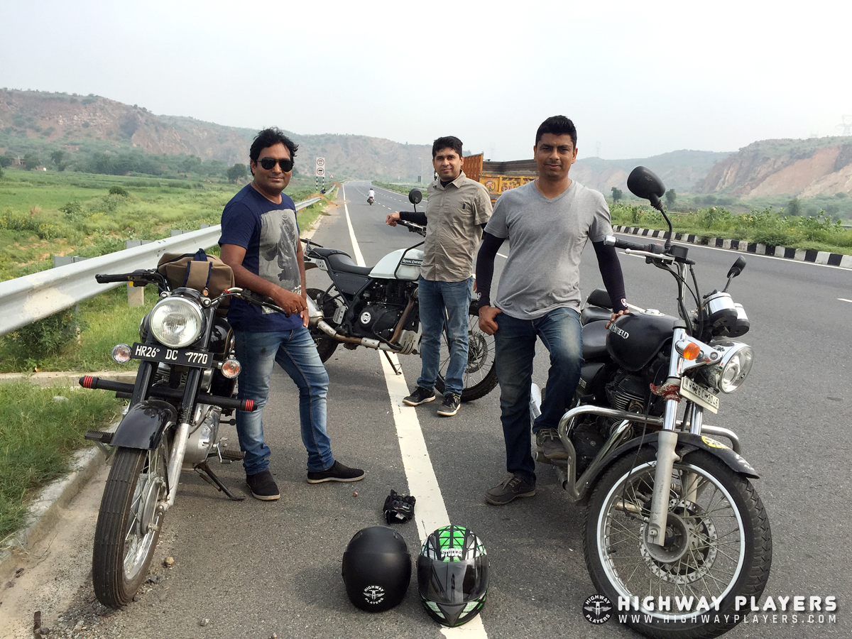 Highway Players during the ride to Dharma Dhaba