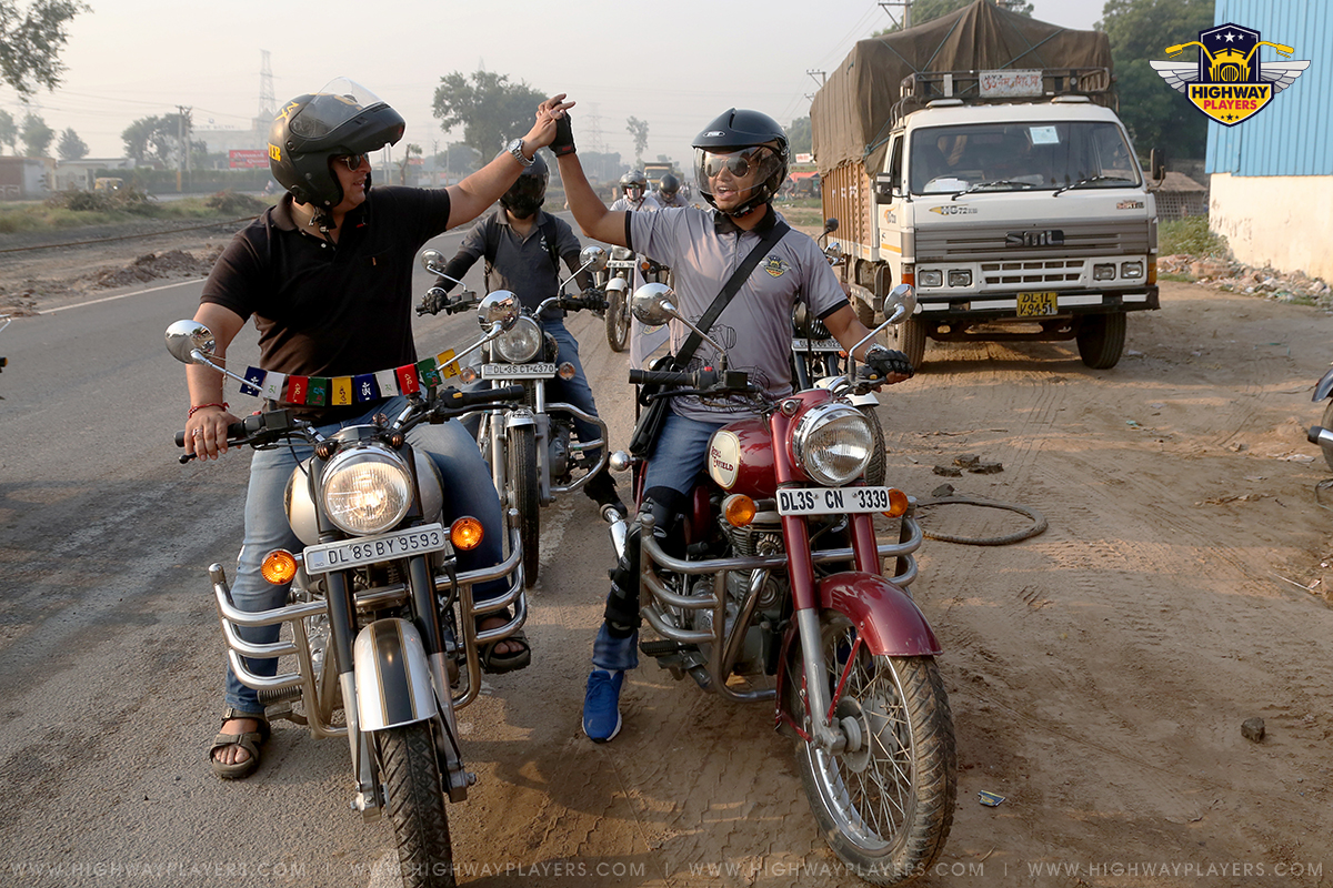 `Highway Players during Ride to Zhilmil Dhaba, Palwal