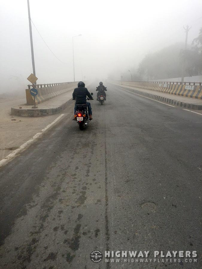 fog, ride, nature