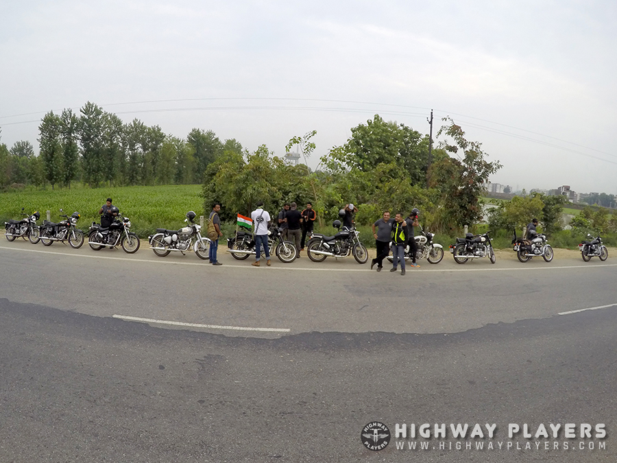 HPs during the breakfast ride to Sukhdev Dhaba on Meerut Highway