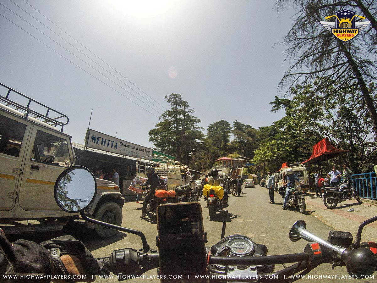 Highway Players in Chakrata market during Ride to Chakrata
