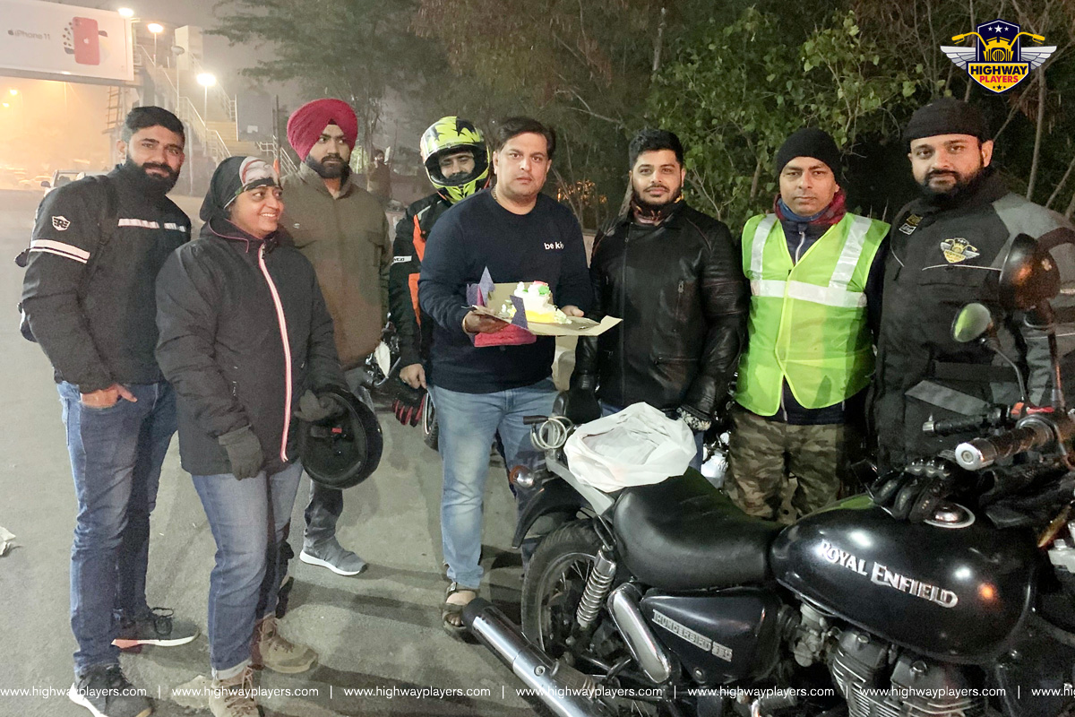 Highway Player celebrate Amit Tiwari birthday during the ride to Highway Masala