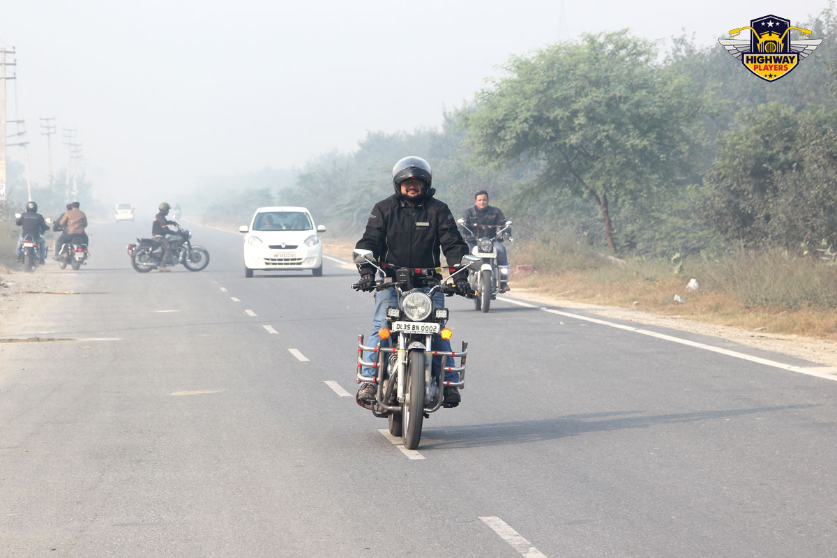 Highway Players Jatin Goel during the breakfast Ride to Murthal