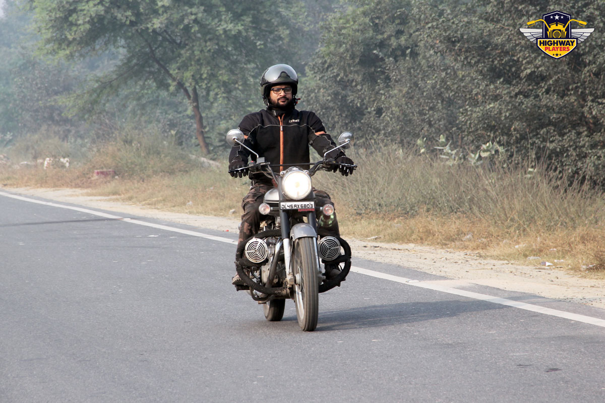 Highway Players Tarun Kashyap during the breakfast Ride to Murthal