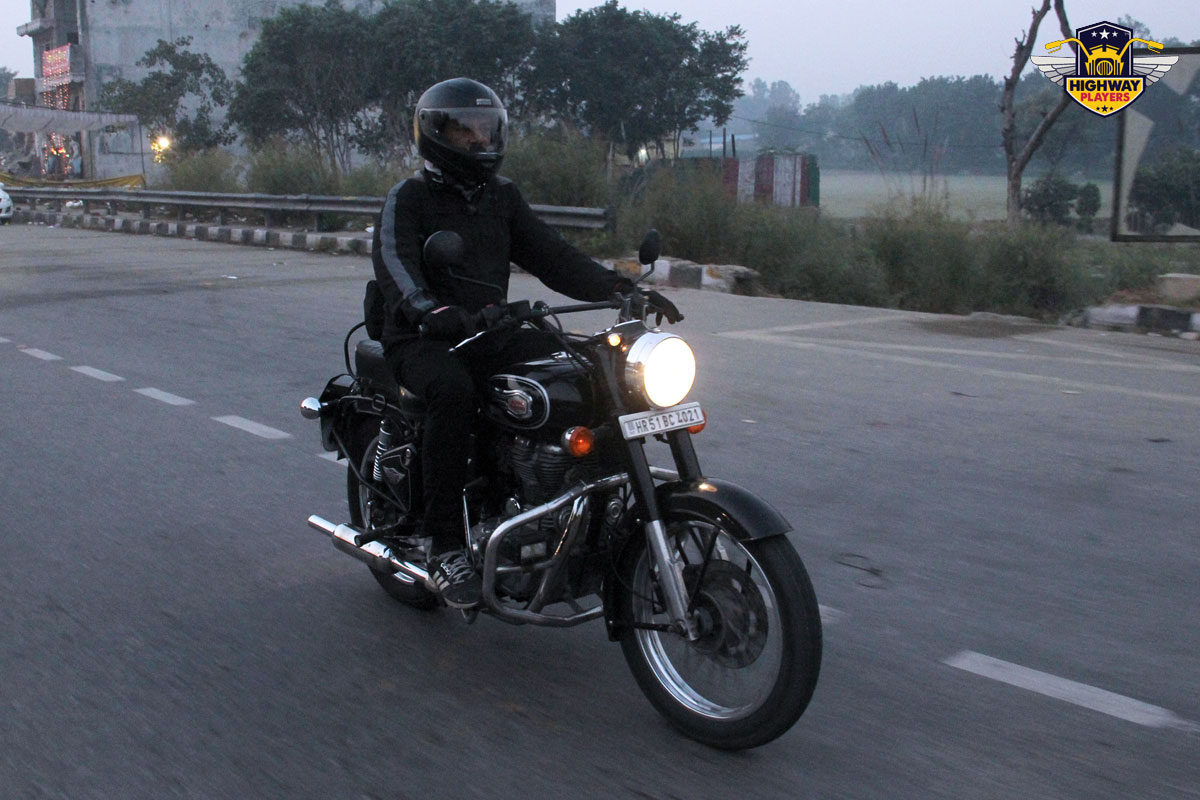 Highway Players Shashi Kumar during the breakfast Ride to Murthal