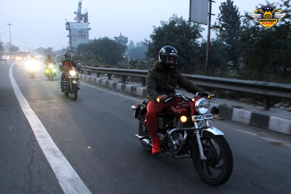 Highway Players Bharat Kumar during the breakfast Ride to Murthal