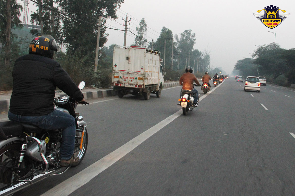 Highway Players during the breakfast Ride to Murthal