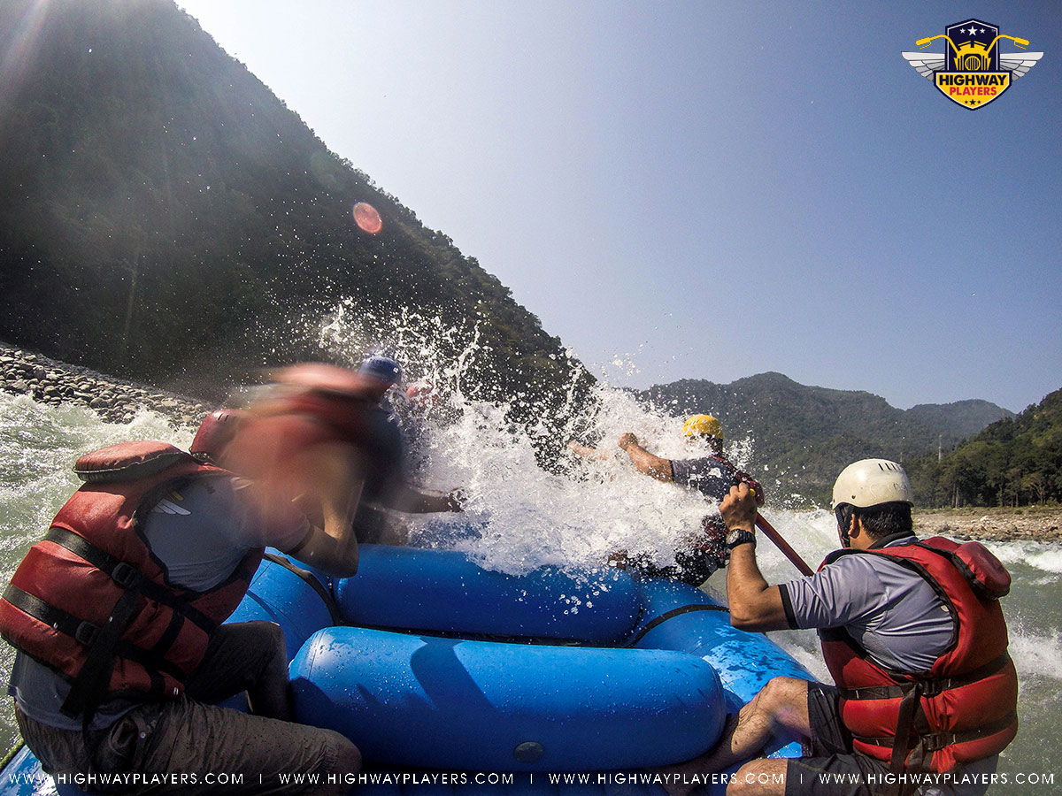 Highway Players during rafting in Rishikesh