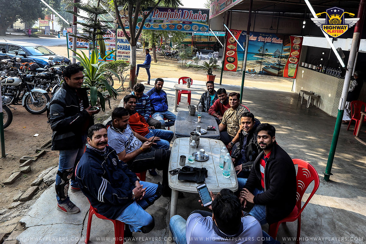 Highway Players doing breakfast on the way to Rishikesh
